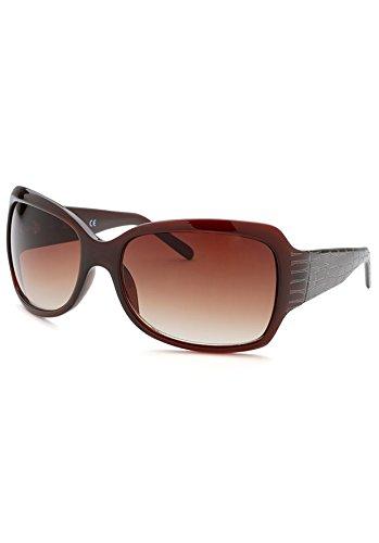 Women'S Square Brown Sunglasses