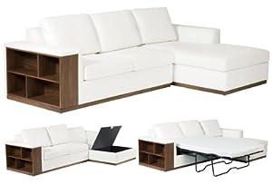 Valencia right hand corner sofa bed white Amazon Kitchen & Home