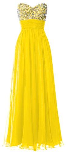 MACloth -  Vestito  - linea ad a - Senza maniche  - Donna giallo 44