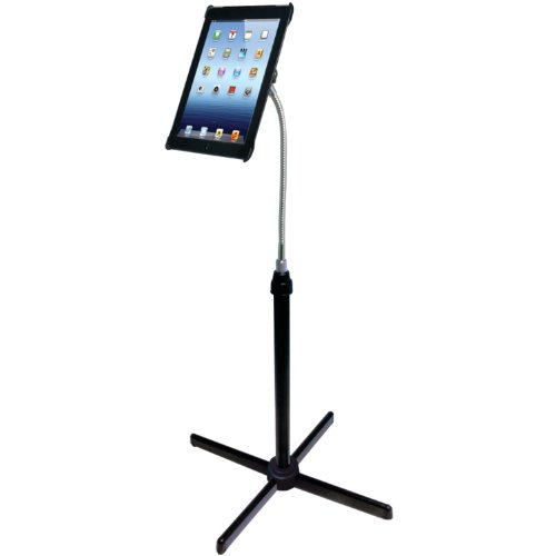 CTA Digital Height-Adjustable Gooseneck Floor Stand for iPad 2nd-4th generation (PAD-AFS)