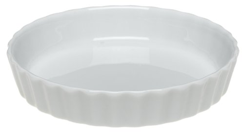 Pillivuyt Porcelain Small 5-1/4-Inch Individual Tart/Creme Brulee Dish