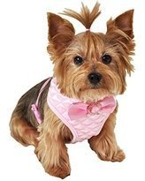 simplywag-lulupink-quilted-dog-harness-small