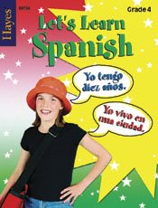 Hayes School Publishing BR724 Let\'s Learn Spanish Gr 4- 40 page 8.5\'\' X 11\'\' Workbook