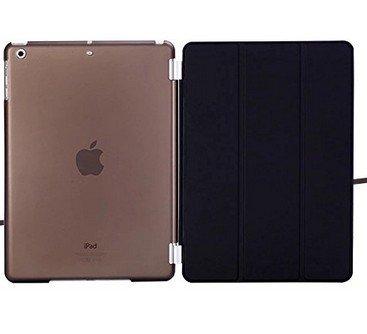 JAPAN AVE. 正規品 iPad air アイパッド エアー タブレット tablet 第2世代 第3世代 / 第4世代 保護 ケース オートスリープ 保護カバー + バックカバー 2点セット  個別使用も可能 (オートスリープ機能) Apple アップル タブレット 対応 折りたたみ 手帳型 横開き カバー 角度 調節 調整 保護 防水 防塵 衝撃吸収 PD-9900 (ブラック)