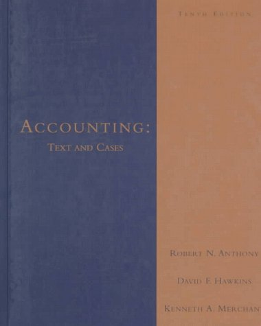 12th edition of accounting text and cases by robert anthony