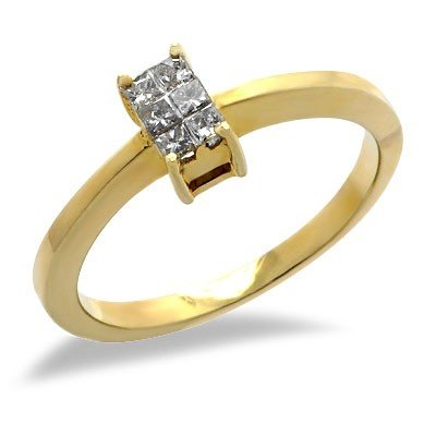 Diamond Promise Ring in Yellow Gold - 6
