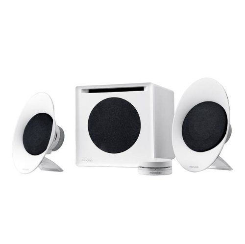 Microlab FC50 2.1 Enclosure-Free Desktop Hi-Fi Speaker (White) - RETAIL