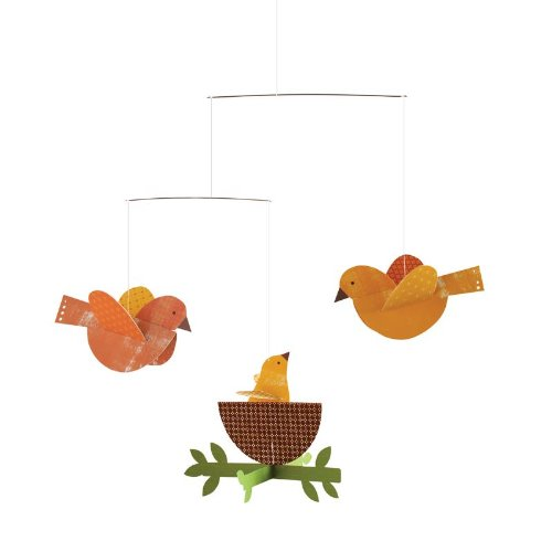 Petit Collage Paper Mobile, Nesting Birds front-117187
