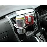 MP Essentials Black Vent Clip on Fit Double Twin Cup, Can & Bottle Holder