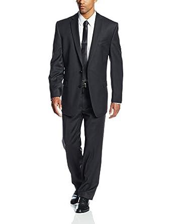 Calvin Klein Men's Malik Slim Fit Suit, Charcoal, 48 Regular