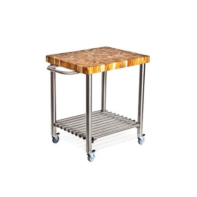 Proteak 715 Teak Serving Kitchen Cart