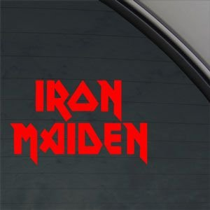 Iron Maiden rosso adesiva Red Car Metal Rock Band per Notebook da parete adesivo per Laptop Apple Macbook