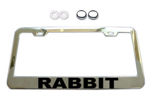 Volkswagen VW Rabbit Chrome License Plate Frame w/ Screw Covers (Vw License Plate Frame For Women compare prices)