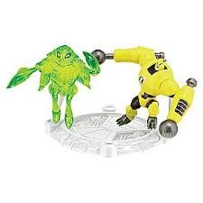 Ben 10 Ultimate Alien Mini Action Figure - Armodrillo/AmpFibian - 1