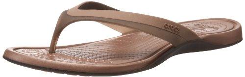 Crocs Women's Adrina Espresso/Bronze Flip Flops 11204-25M-480 7 UK