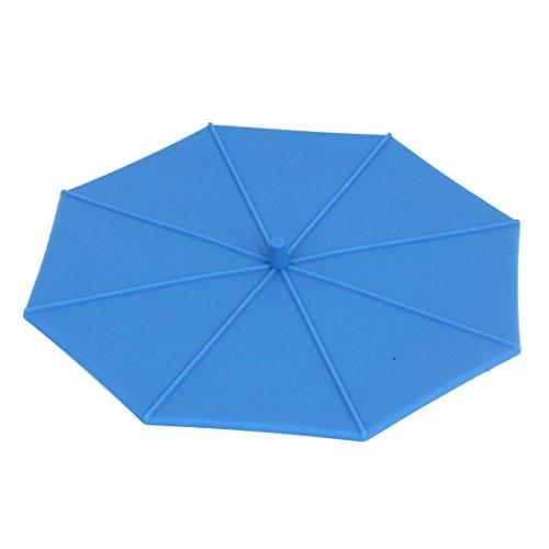 Coupe Parapluie Silicone Forme Coffe Tea Eau Airtight Cover Cap Bleu