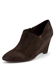 Footglove™ Suede Wedge Shoe Boots