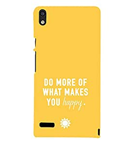 EPICCASE Do what you love Mobile Back Case Cover For Huawei Ascend P6 (Designer Case)