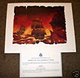 Pirates of the Caribbean Disneyland Limted Edition Lithograph