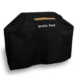 Garden Home Heavy Duty BLACK 64 INCH Grill Cover with Brush
