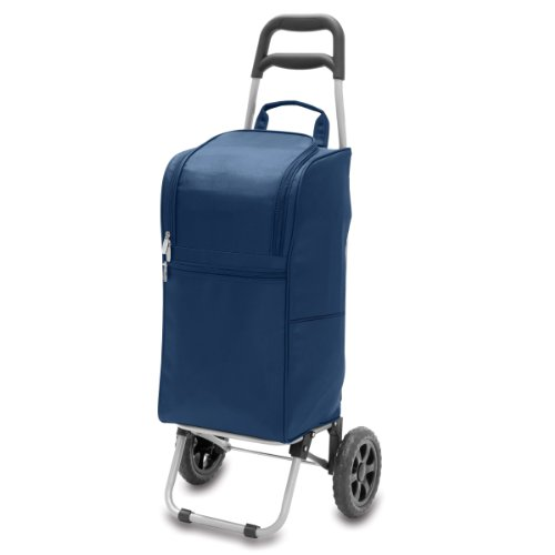 Purchase Picnic Time Insulated Cart Cooler with Wheeled Trolley, Navy
