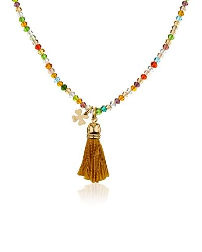 Córdoba Joyeros Collana Trio Swarovski Ponpom Bicolor Colors