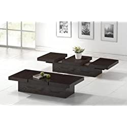 Baxton Studio Cambridge Brown Wood Modern Coffee Table with Hidden Storage
