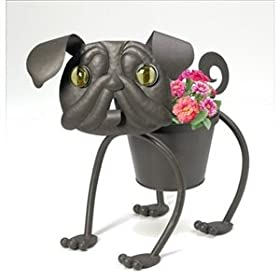 Metal Planter - Pug the Dog Planter