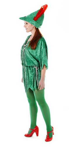 Ladies Peter Pan Fancy Dress Costume - Ladies UK Size 8 - 12 Small