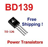 5 pcs of BD139 TO-126 Power Transistors NEW - Free Shipping