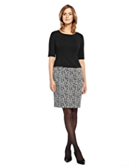 M&S Collection Twin Pockets Jacquard Dress