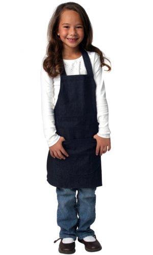 Kids Blue Denim Chef Apron for Children Age 3 up