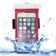 Universal-IPX8-Certified-to-10m-Waterproof-Carrying-Case-with-Touch-Responsive-Front-Arm-Band-for-iPhone-6-Plus(Magenta)