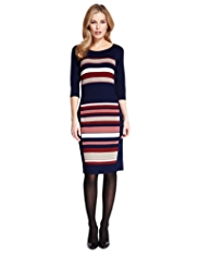 M&S Collection Striped Bodycon Dress