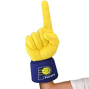 NEW Indiana Pacers #1 Ultimate Fan NBA Foam Hand Finger Officially Licensed by the... by Ultimate Hand Authentic Sports Shop