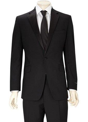 Austin Reed Contemporary Fit Black Mohair Suit SHORT MENS 40