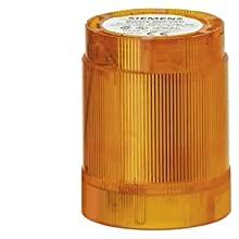 Siemens 8WD42 00-1AD Sirius Signal Column, Thermoplastic Enclosure, IP54 Degree of Protection, 50mm Diameter, Steady Light Element, UC 24 to 230V Rated Voltage, Amber