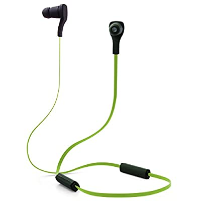 Rotibox Mini Lightweight Wireless Bluetooth 4.0 Sports In-ear Headphones.Premium Sweat-proof Bluetooth Earbuds with built in Microphone for iPhone 6, 6 Plus, 5 5c 5s 4,Samsung Galaxy S5 4 3 Note4 3 2, Android Smart Phones Bluetooth Devices � Black/Green