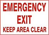 EMERGENCY EXIT KEEP AREA CLEAR 10