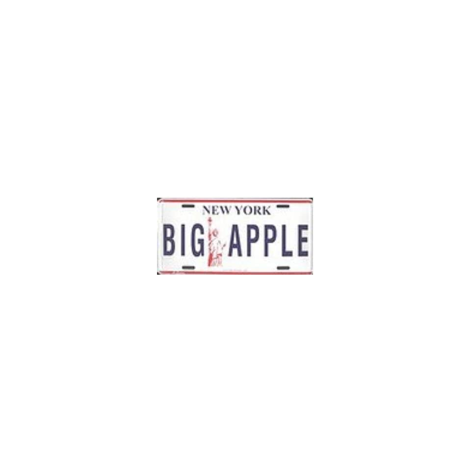 New York Big Apple Metal License Plate Auto Tag