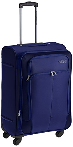 American Tourister Crete Polyester 67cms Ink Blue Softsided Suitcase (49W (0) 01 002)