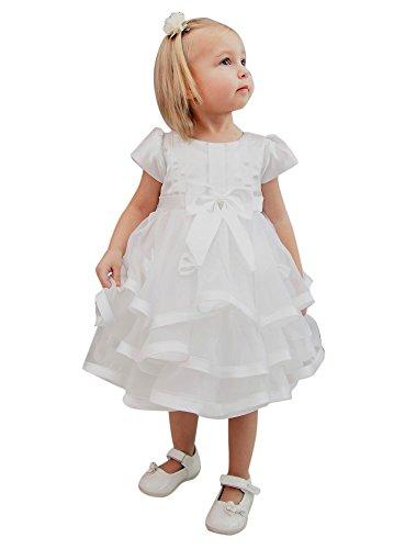 Boutique-Magique -  Abito da battesimo  - Bebè femminuccia Bianco bianco 3 mesi