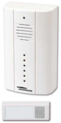 Heidemann 70281 Türklingel Funk Gong Set Drahtlos HX Spotlight 200Meter