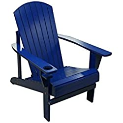 Natural Wood Adirondack Chair by Trademark Innovations (Blue)