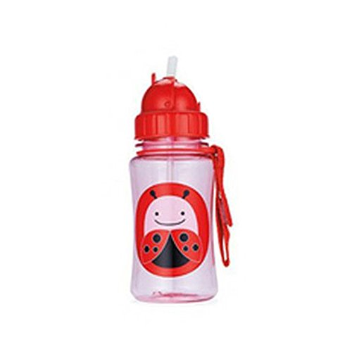 Healthy Baby Kid Child Feeding Bottles Cute Cartoon Animals Straw Cups Ladybug front-886916