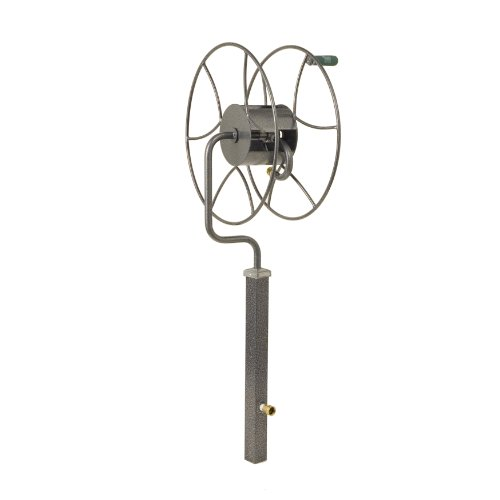 Hose Stands: NEW Free Standing Rotating Hose Reel Outdoor Garden Heavy