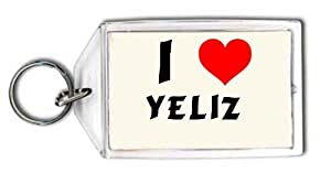 I love Yeliz personalized keychain (first name/surname/nickname)