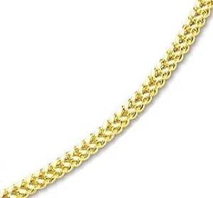 14k Yellow 5 mm Mens Fancy Bold Franco Necklace - 26 Inch - JewelryWeb