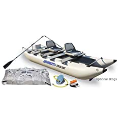 Sea Eagle 12 Ft FoldCat Inflatable Catamaran Incl Swivel Seats Pump by Sea Eagle Boats INC