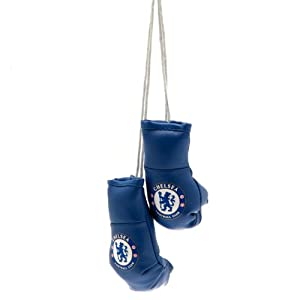Official Chelsea FC Mini Boxing Gloves Car Hanging BN